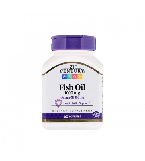 21st Century Omega-3 Fish Oil 1000mg 60caps
