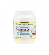 Кокосовое масло California Gold Nutrition Organic Virgin Coconut Oil 1.6l