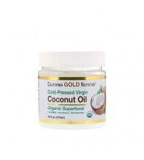 Кокосовое масло California Gold Nutrition Organic Virgin Coconut Oil 473ml