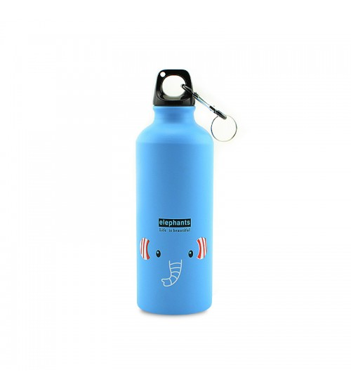 Фляга для воды Kindly Steel Bottle Life is Beautiful Elephant Blue 500ml