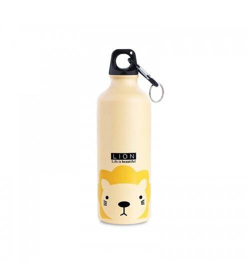 Фляга для воды Kindly Steel Bottle Life is Beautiful Lion Yellow 500ml