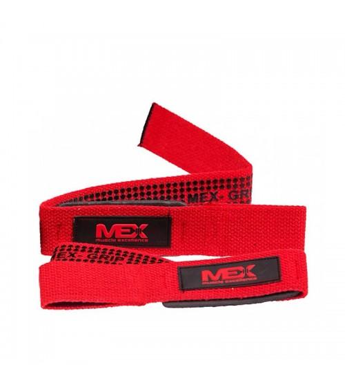 Лямки для становой тяги MEX PRO LIFT Lifting Straps Red