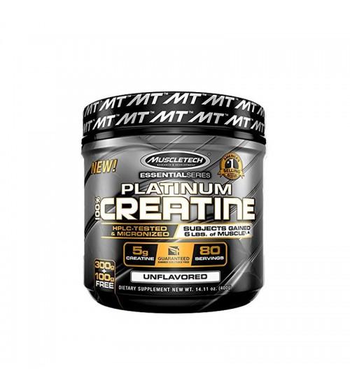 Микронизированный креатин моногидрат Muscletech 100% Platinum Creatine 400g