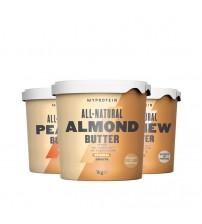 Дегустационный комплект Myprotein All-Natural Butter Ассорти 3шт