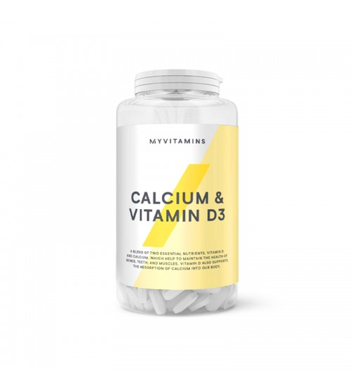 Кальций с витамином D3 Myprotein MyVitamins Calcium & Vitamin D3 180tabs
