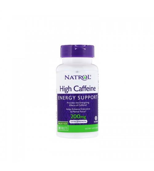 Кофеин Natrol High Caffeine 200mg 100tabs