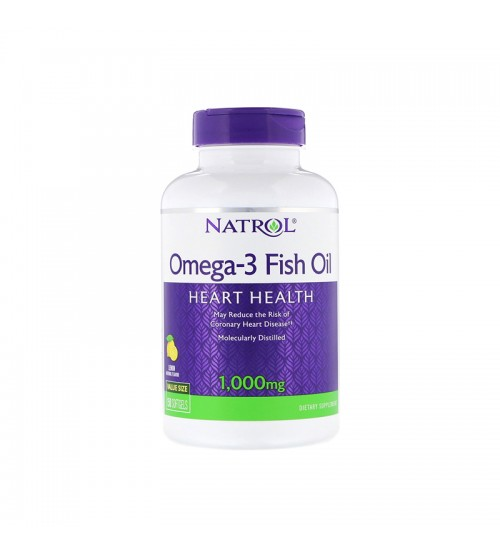 Natrol Omega-3 Fish Oil Natural Lemon Flavor 1000mg 150caps
