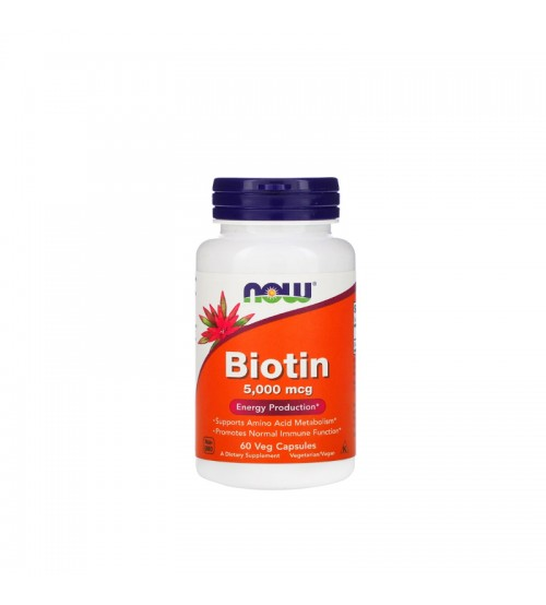 Биотин Now Foods Biotin 5000mcg 60caps