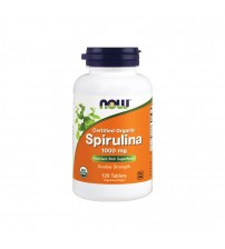 Спирулина Now Foods Certified Organic Spirulina 1000mg 120tabs