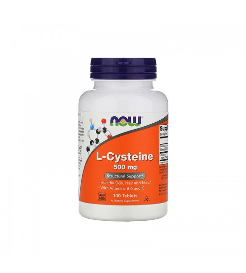 Цистеин Now Foods L-Cystein 500mg 100tabs