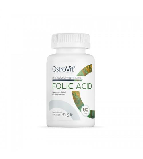 Фолиевая кислота OstroVit Folic Acid 400mcg 90tabs