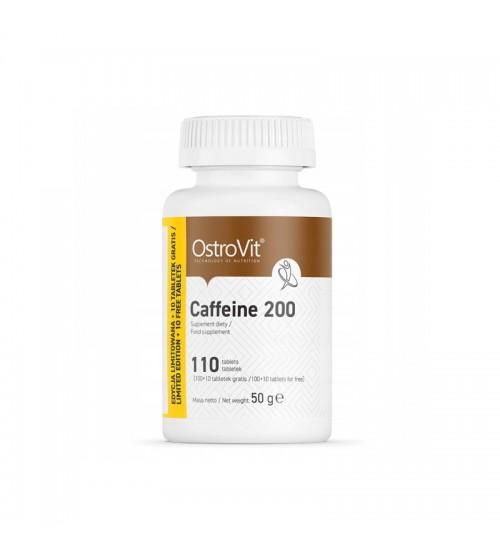Кофеин OstroVit Caffeine 200mg 110tabs