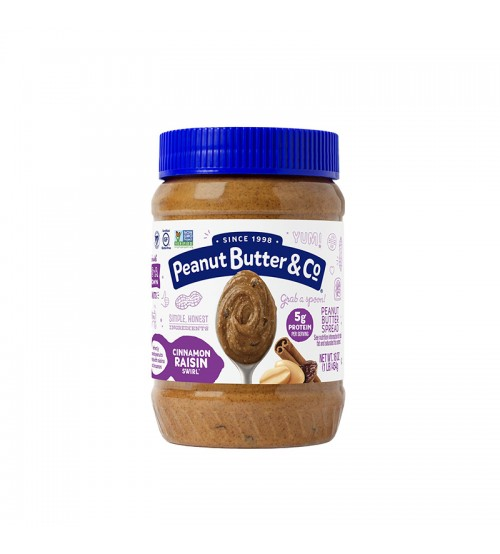 Арахисовая паста Peanut Butter & Co Cinnamon Raisin Swirl 454g