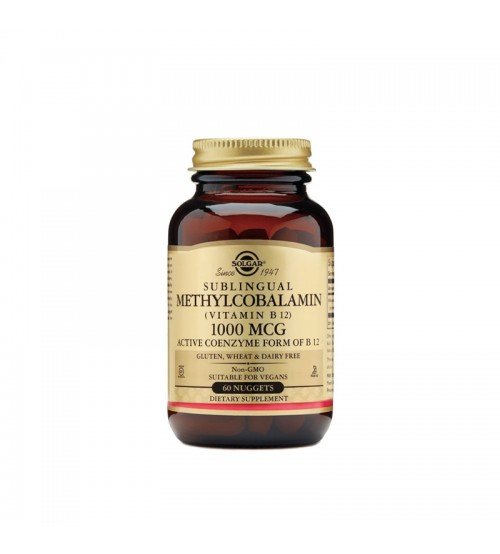 B12 в виде метилкобаламина Solgar Sublingual Methylcobalamin (Vitamin B12) 1000mcg 60tabs