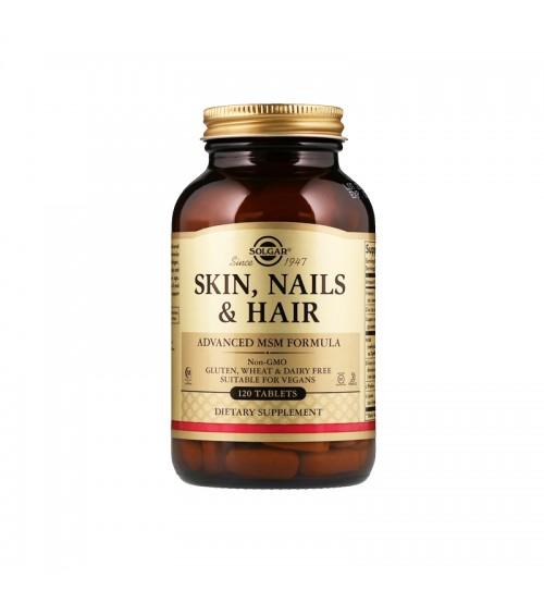 Solgar Skin Nails & Hair Advanced MSM Formula 120tabs