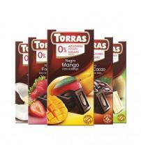 Дегустационный комплект шоколада Torras 75g Ассорти 10шт