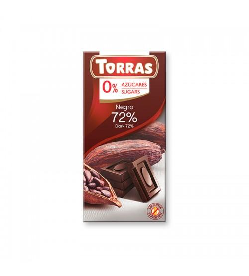 Шоколад без сахара Torras Dark Chocolate 72% Cocoa 75g