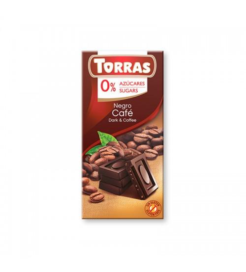 Шоколад без сахара Torras Dark Chocolate With Coffee 75g