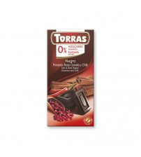 Шоколад без сахара Torras Dark Chocolate With Pink Pepper Cinnamon & Chili 75g