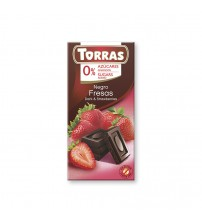 Шоколад без сахара Torras Dark Chocolate With Strawberries 75g