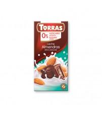 Шоколад без сахара Torras Milk Chocolate With Almonds 75g