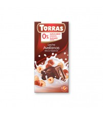 Шоколад без сахара Torras Milk Chocolate With Hazelnuts 75g