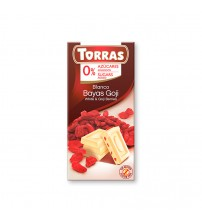 Шоколад без сахара Torras White Chocolate With Goji Berries 75g
