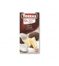 Шоколад без сахара Torras White Chocolate With Coconut 75g