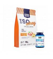 Комплект UNS изолят Iso Whey 750g + Omega-3 40caps