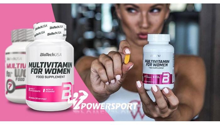 Новый дизайн Multivitamin For Women от BioTech USA